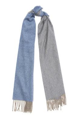 Двусторонний кашемировый шарф с бахромой Isaia 2328171589