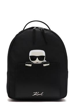 Черный текстильный рюкзак с отделкой Karl Lagerfeld 682173428