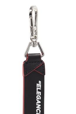 Черный кожаный брелок с надписью Karl Lagerfeld 682173460