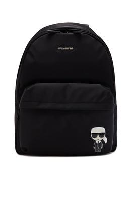 Черный текстильный рюкзак с логотипами Karl Lagerfeld 682173441