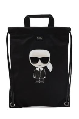 Черный плоский рюкзак с отделкой Karl Lagerfeld 682173433