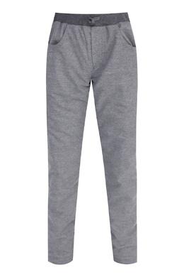 Серые трикотажные брюки с черным поясом Il Gufo 1205172595