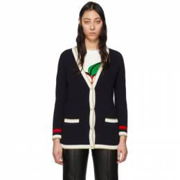 Gucci Navy Loved Cardigan 467691 X5T03