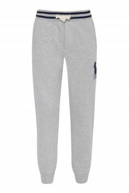 Серые брюки с логотипом бренда Ralph Lauren Kids 1252173477