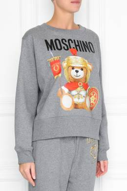 Свитшот серого цвета с мотивом Roman Teddy Bear Moschino 2249173900