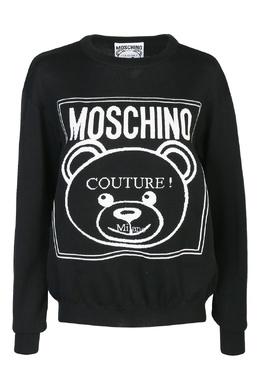 Джемпер из шерсти с логотипом Moschino 2249173895
