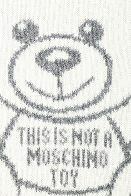 Серый джемпер с узором и логотипом Moschino 2249173898