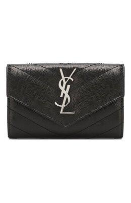 Кожаный кошелек Monogram Saint Laurent 414404/B0W02