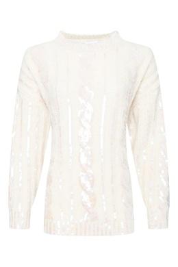 Молочно-белый свитер с пайетками Moschino 2249173779