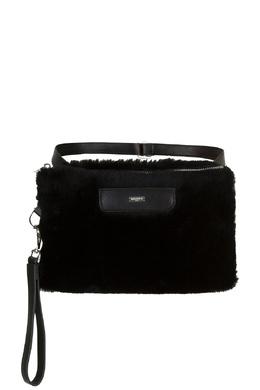 Меховая поясная сумка черного цвета Max & Moi 2919174622