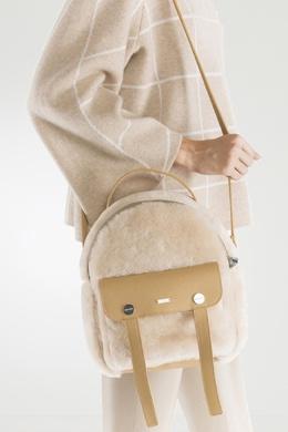 Меховая сумка с кожаной отделкой Max & Moi 2919174637