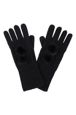Черные перчатки, украшенные мехом Max & Moi 2919174614