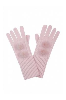 Розовые перчатки, украшенные меховыми помпонами Max & Moi 2919174611