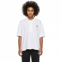 Adidas Originals White Oversized Polo FM2616