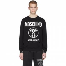 Moschino Black Double Question Mark Logo Sweatshirt 1704 2027