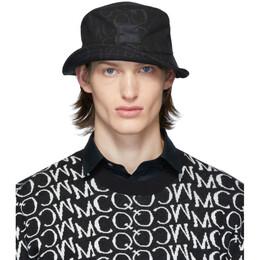 MCQ by Alexander McQueen Black Logo Bucket Hat 571333RGC45