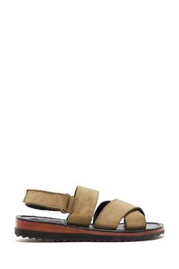 Кожаные сандалии цвета хаки Bonpoint 1210175347