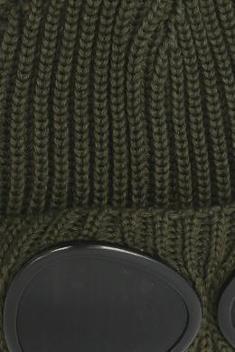 Шапка цвета хаки с линзами C.P. Company 1929175034