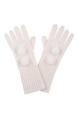 Белые перчатки, украшенные мехом Max & Moi 2919174609
