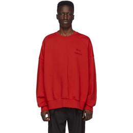 Juun.J Red Logo Sweatshirt JC0141P016