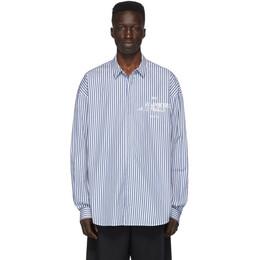 Juun.J Blue Striped Shirt JC0364P11P