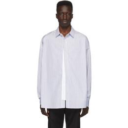 Juun.J Navy and White Striped Shirt JC0364P20R