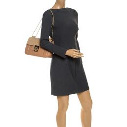 Chloe Beige Leather and Ostrich Medium Elsie Shoulder Bag