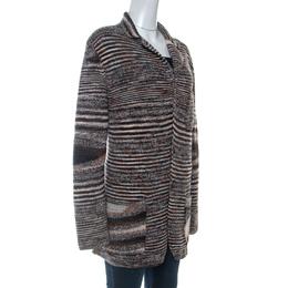 Missoni Brown Knit Wool Cardigan XL