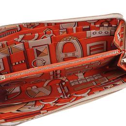 Hermes White Epsom Leather Long Wallet