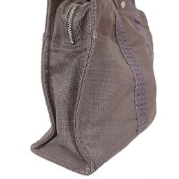 Hermes Gray Canvas Herline Tote Bag