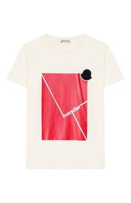 Хлопковая футболка Moncler F1-954-8C702-20-83907/12-14A