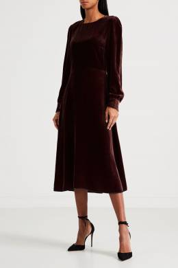 Бордовое платье из шелковистой ткани Rochas 184175444