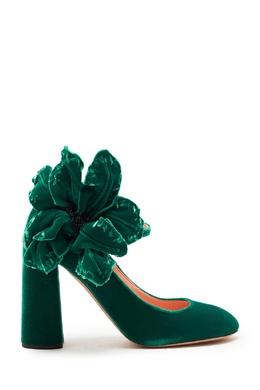 Зеленые туфли с крупным декором Rochas 184175422