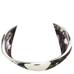 Bvlgari Silver 18K White Gold Amethyst Ring Size 53