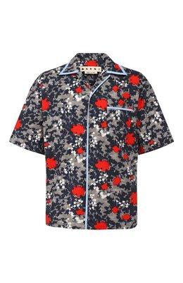Хлопковая рубашка Marni CUMU0139A0/S52609