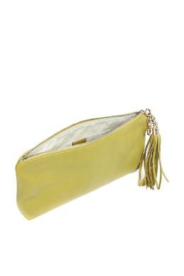 Зеленый кожаный клатч с кисточкой Gucci 470176254