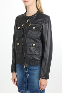 Черная кожаная куртка Dsquared2 1706176042
