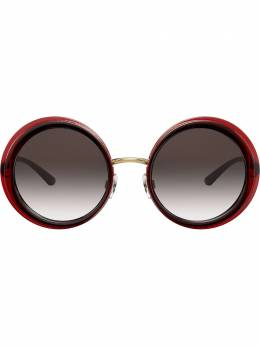 Dolce&Gabbana Eyewear солнцезащитные очки в массивной круглой оправе DG61275508G