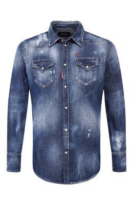 Джинсовая рубашка Dsquared2 S74DM0392/S30341