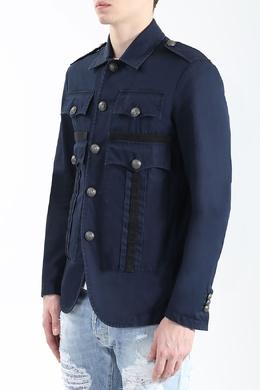 Темно-синий пиджак с накладными карманами Dsquared2 1706176737