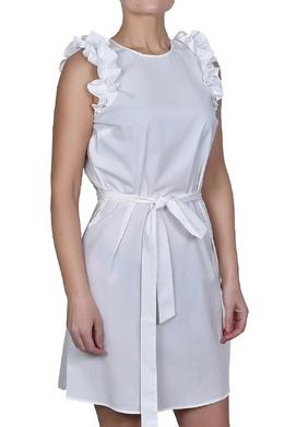 Белое платье с рюшами MICHAEL Michael Kors 984177053