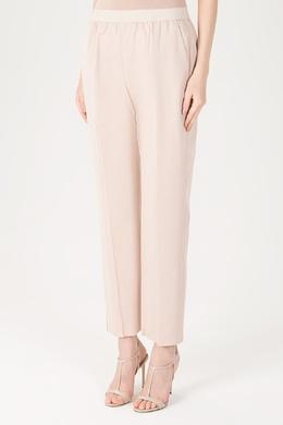 Бежевые брюки с прямыми штанинами Agnona 2540176951