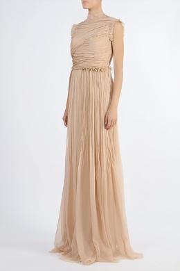 Плиссированное платье с вырезом на спинке Rochas 184176803