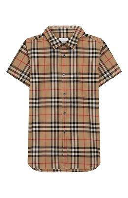 Хлопковая рубашка Burberry 8014133