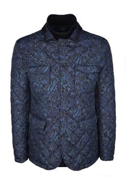 Синяя куртка с принтами Etro 907177115