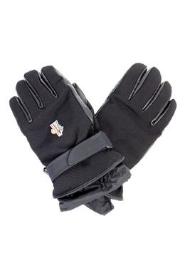 Черные перчатки с ремешками Moncler 34177715