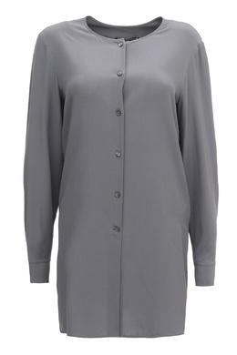 Удлинённая блуза серого цвета Salvatore Ferragamo 510177672