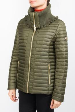 Зеленая стеганая куртка с воротником с отворотом MICHAEL Michael Kors 984178444