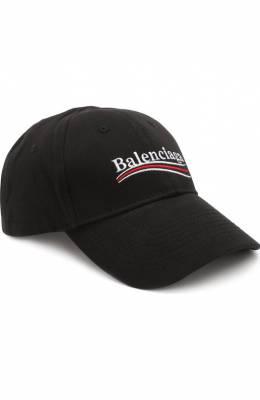 Хлопковая бейсболка с логотипом бренда Balenciaga 505985/410B7