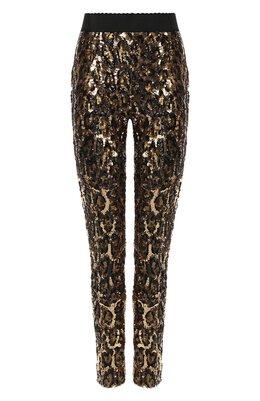 Леггинсы с пайетками Dolce&Gabbana FTANET/FLSCN
